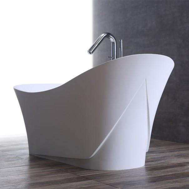 Badewanne freistehend weiß 165 x 84 matt
