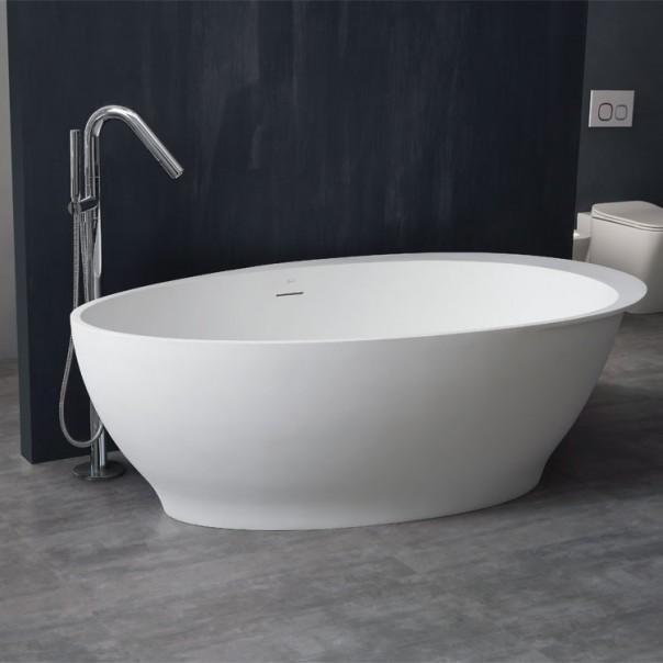 Badewanne freistehend weiß 180 x 104 matt