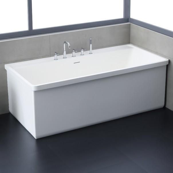 Badewanne freistehend weiß 190 x 100 matt