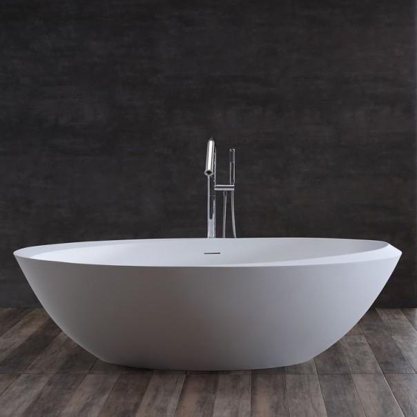 Badewanne freistehend weiß 190 x100 matt